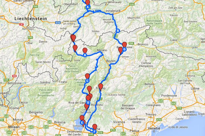 In Het Vroege Voorjaar Door Zuid Tirol Naar Het Gardameer